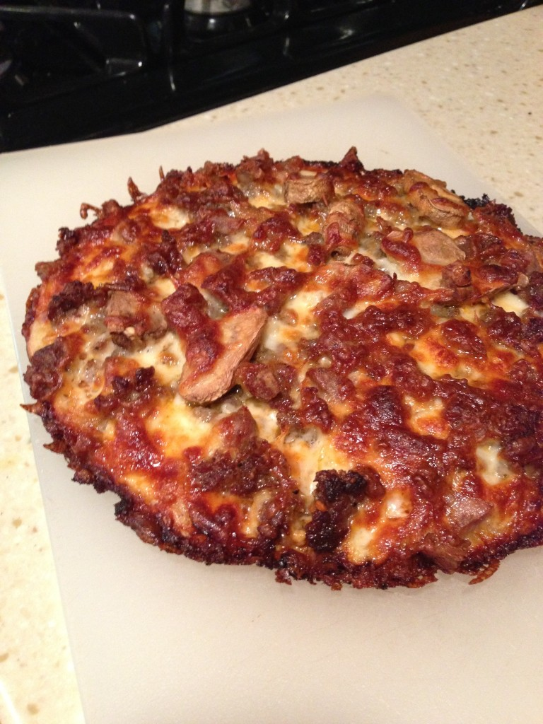 Homemade pan pizza. Who knew...
