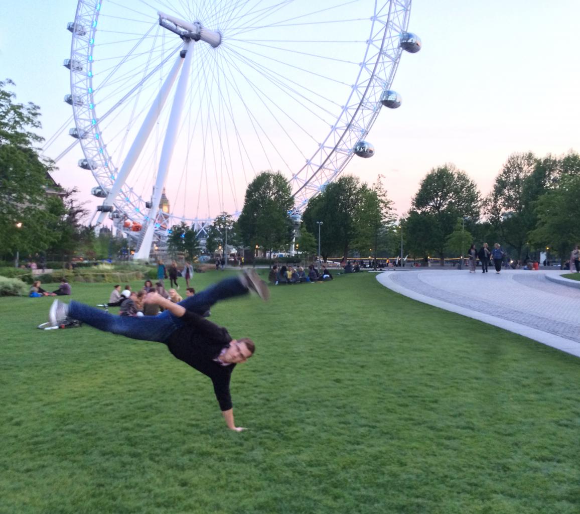 Au Batido in front of the London Eye