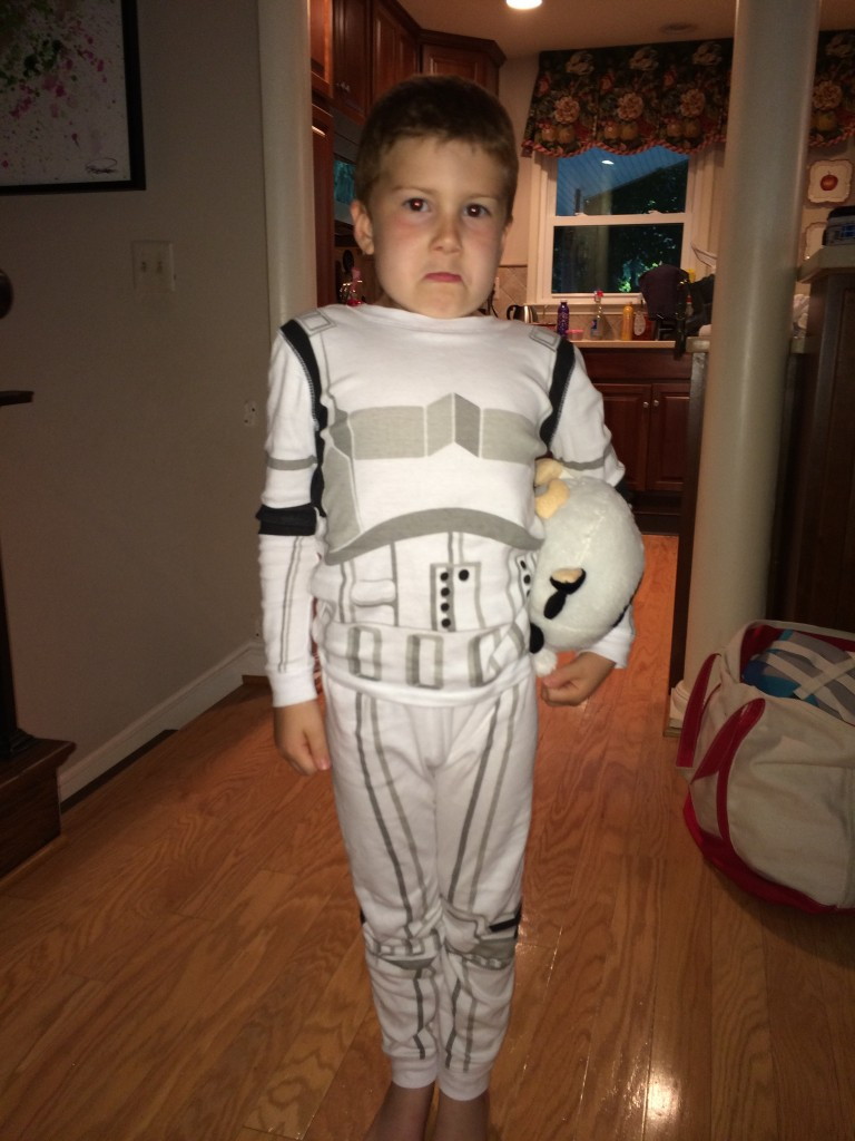 A little short for a storm trooper