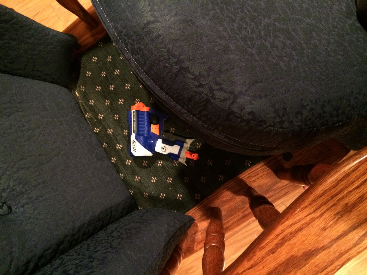I wondered why the chair was lumpy. I...